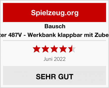 Bausch Peter 487V - Werkbank klappbar mit Zubehör Test