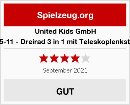 United Kids GmbH 13015-11 - Dreirad 3 in 1 mit Teleskoplenkstange Test
