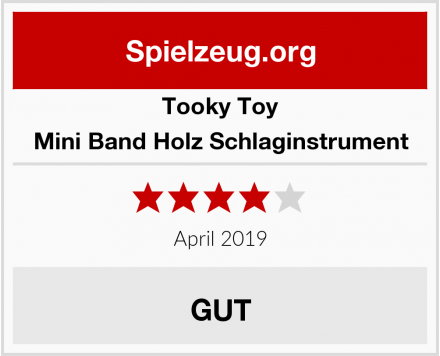 Tooky Toy Mini Band Holz Schlaginstrument Test