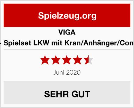 VIGA 50690 - Spielset LKW mit Kran/Anhänger/Containern Test