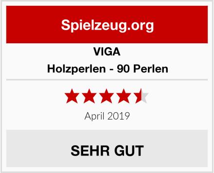 VIGA Holzperlen - 90 Perlen Test