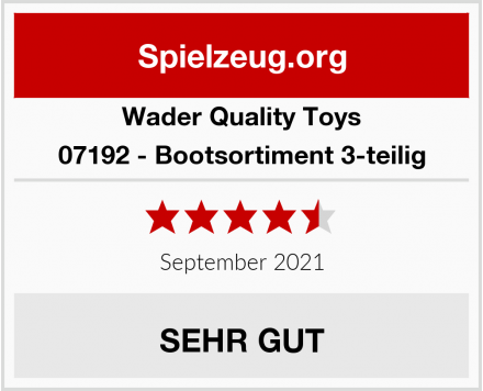 Wader Quality Toys 07192 - Bootsortiment 3-teilig Test