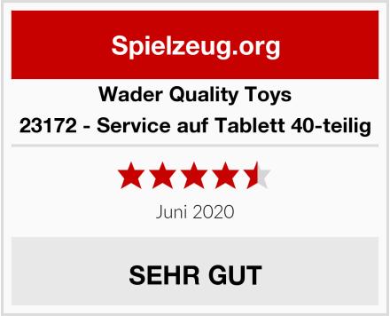 Wader Quality Toys 23172 - Service auf Tablett 40-teilig Test