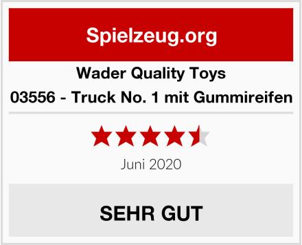 Wader Quality Toys 03556 - Truck No. 1 mit Gummireifen Test