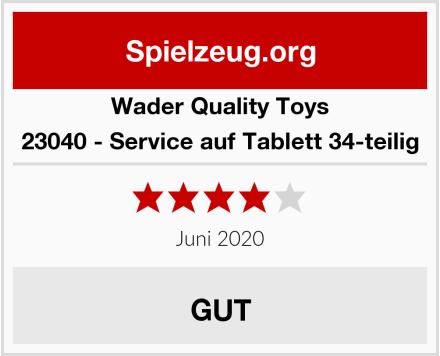 Wader Quality Toys 23040 - Service auf Tablett 34-teilig Test