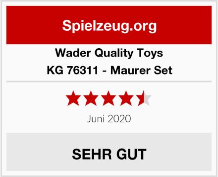 Wader Quality Toys KG 76311 - Maurer Set Test