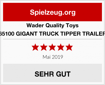 Wader Quality Toys 65100 GIGANT TRUCK TIPPER TRAILER Test