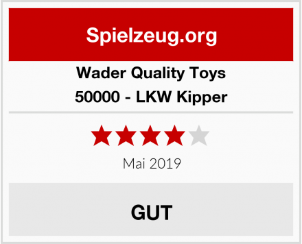 Wader Quality Toys 50000 - LKW Kipper Test