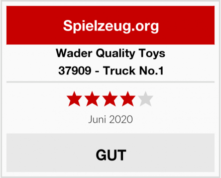 Wader Quality Toys 37909 - Truck No.1 Test