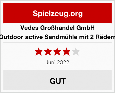 Vedes Großhandel GmbH Outdoor active Sandmühle mit 2 Rädern Test