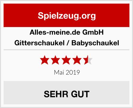 alles-meine.de GmbH Gitterschaukel / Babyschaukel Test