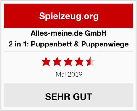 alles-meine.de GmbH 2 in 1: Puppenbett & Puppenwiege Test