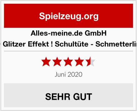 alles-meine.de GmbH 3-D Glitzer Effekt ! Schultüte - Schmetterlinge Test