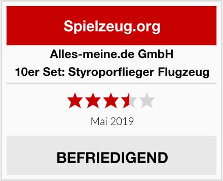 alles-meine.de GmbH 10er Set: Styroporflieger Flugzeug Test