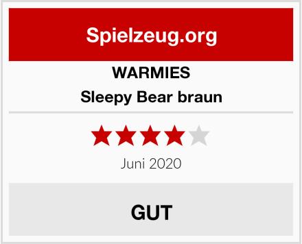 WARMIES Sleepy Bear braun Test