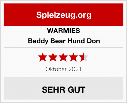 WARMIES Beddy Bear Hund Don Test