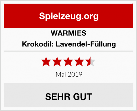 WARMIES Krokodil: Lavendel-Füllung Test