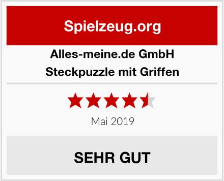 alles-meine.de GmbH Steckpuzzle mit Griffen Test