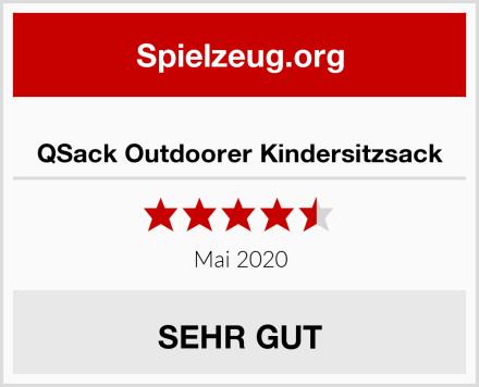 QSack Outdoorer Kindersitzsack Test