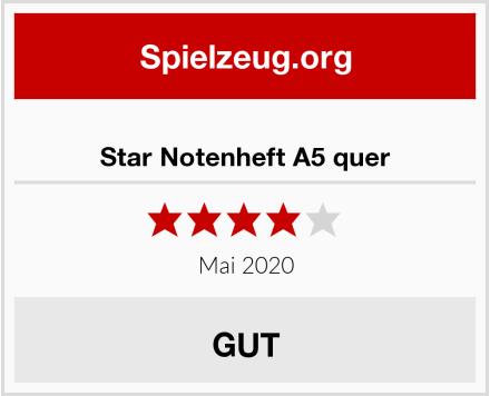Star Notenheft A5 quer Test