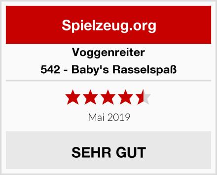Voggenreiter 542 - Baby's Rasselspaß Test