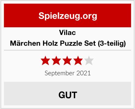 Vilac Märchen Holz Puzzle Set (3-teilig) Test