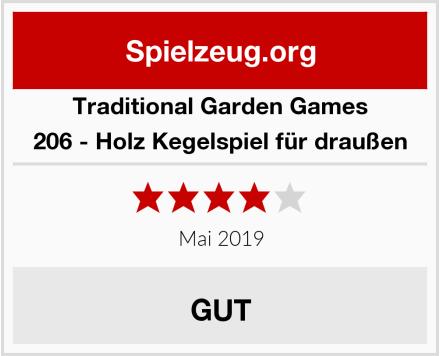 Traditional Garden Games 206 - Holz Kegelspiel für draußen Test