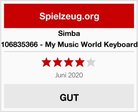 Simba 106835366 - My Music World Keyboard Test