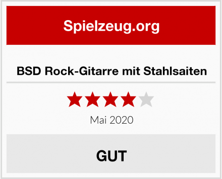 BSD Rock-Gitarre mit Stahlsaiten Test