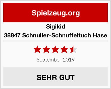 Sigikid 38847 Schnuller-Schnuffeltuch Hase Test