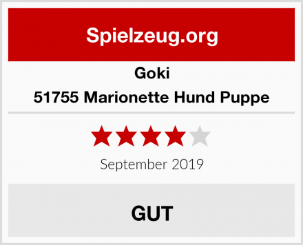 Goki 51755 Marionette Hund Puppe Test