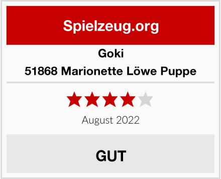Goki 51868 Marionette Löwe Puppe Test