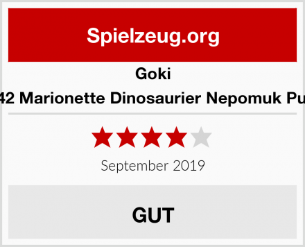 Goki 51942 Marionette Dinosaurier Nepomuk Puppe Test