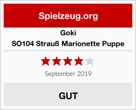 Goki SO104 Strauß Marionette Puppe Test