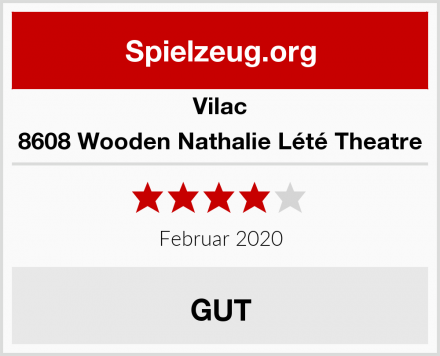 Vilac 8608 Wooden Nathalie Lété Theatre Test