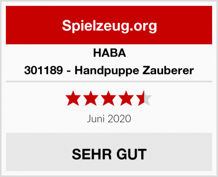 HABA 301189 - Handpuppe Zauberer Test