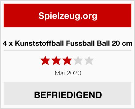 4 x Kunststoffball Fussball Ball 20 cm Test
