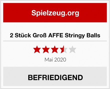 2 Stück Groß AFFE Stringy Balls Test