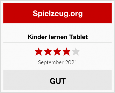 Kinder lernen Tablet Test