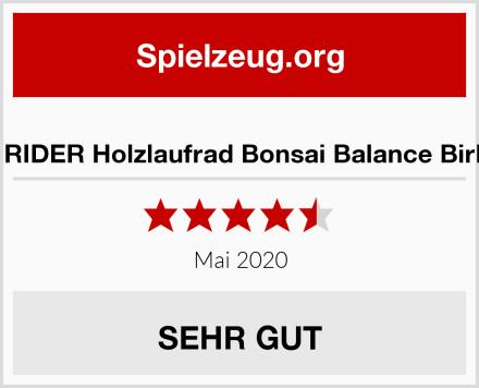 EARLY RIDER Holzlaufrad Bonsai Balance Birkenholz Test