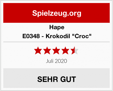 "Hape E0348 - Krokodil ""Croc"" Test"