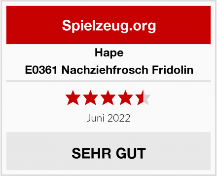 Hape E0361 Nachziehfrosch Fridolin Test