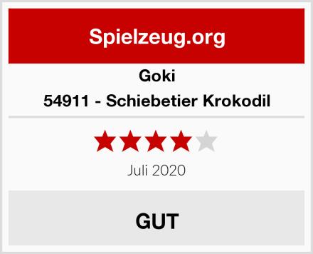 Goki 54911 - Schiebetier Krokodil Test