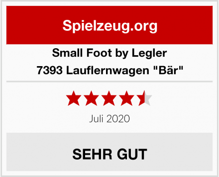 "Small Foot by Legler 7393 Lauflernwagen ""Bär"" Test"
