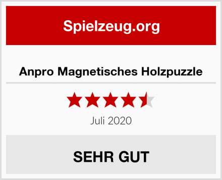 Anpro Magnetisches Holzpuzzle Test