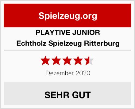 PLAYTIVE JUNIOR Echtholz Spielzeug Ritterburg Test
