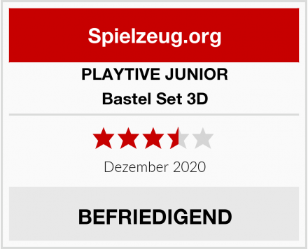 PLAYTIVE JUNIOR Bastel Set 3D Test