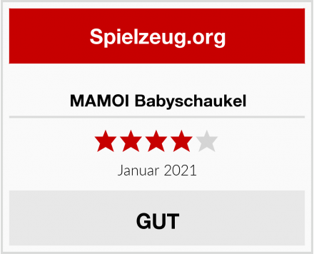 MAMOI Babyschaukel Test