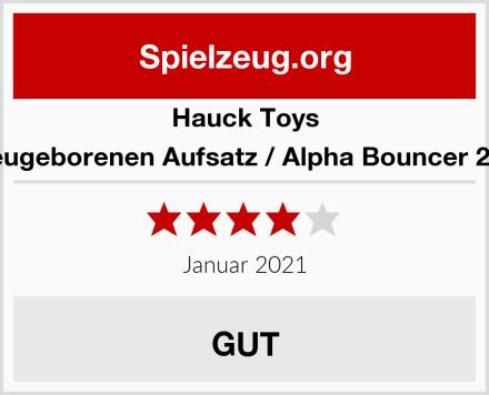 Hauck Toys Neugeborenen Aufsatz / Alpha Bouncer 2in1 Test