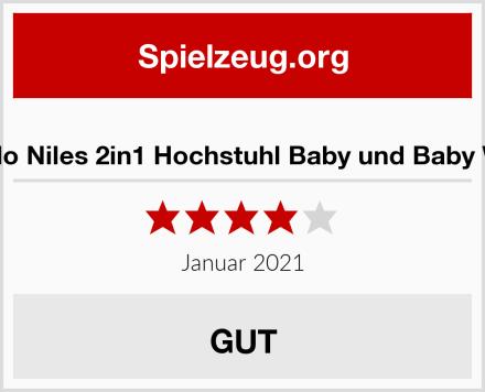Lionelo Niles 2in1 Hochstuhl Baby und Baby Wippe Test